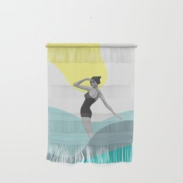 Swimmer Collage Wall Hanging