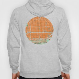 Buenos Aires city map orange Hoody