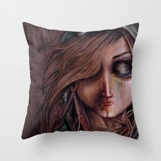 Disturbance of the pain-sensitive structures in my head Throw Pillow
