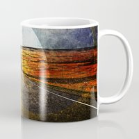 road Mugs featuring Road by emegi