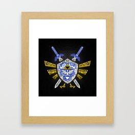 Heroes Legend - Zelda Framed Art Print