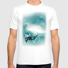 The Whale - Blu Mens Fitted Tee White MEDIUM