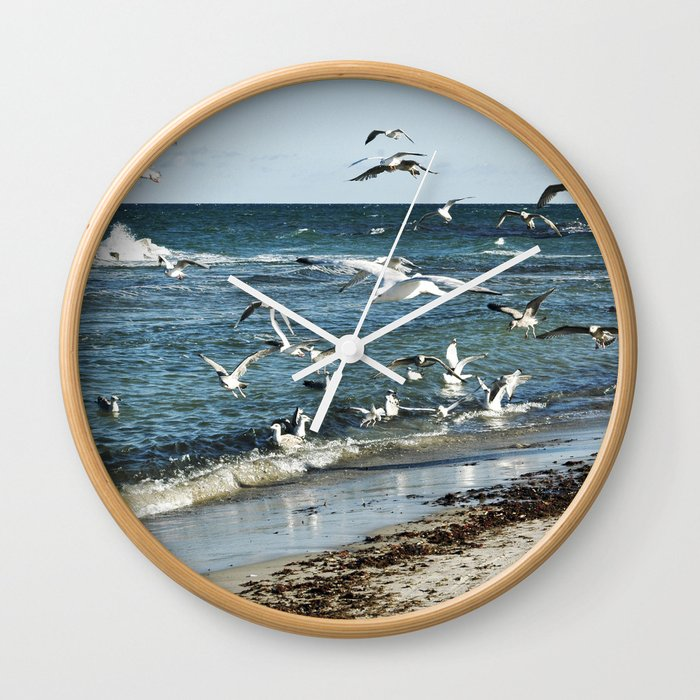Sound Of Seagulls Wall Clock By Captainsilva Society6