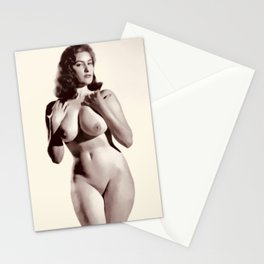 Vintage Pinup Digital Painting Stationery Cards