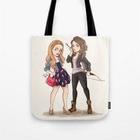 teen wolf Tote Bags featuring Teen Wolf Ladies by Laia™