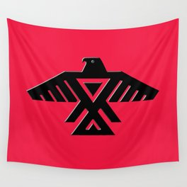 Thunderbird flag - Red background HQ image Wall Tapestry