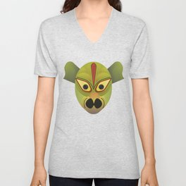 Devil amphibian bird mask Unisex V-Neck