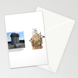 Never Again - Real vs Drawing (Pastel) Stationery Cards