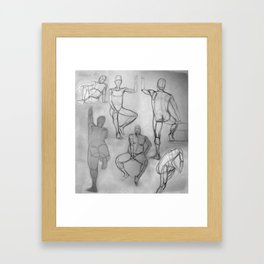Human Study Framed Art Print