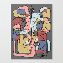 Violin Brain Canvas Print