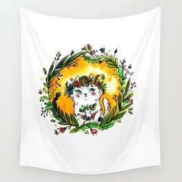 Spring Cat Wall Tapestry