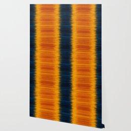 N249 - Orange Blue Oriental Vintage Boho Moroccan Style Wallpaper