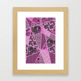 Pink Mixed Pattern Framed Art Print