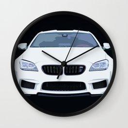 BMW M6 Ilustration Wall Clock