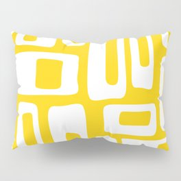 Retro Mid Century Modern Abstract Pattern 335 Yellow Pillow Sham