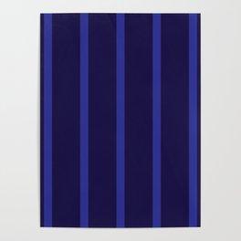 Navy Sky Blue Stripes Design Poster