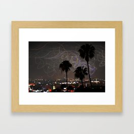 Los Angeles at Night Framed Art Print
