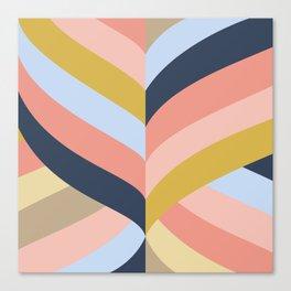 SUNSET MINIMAL STRIPES Canvas Print