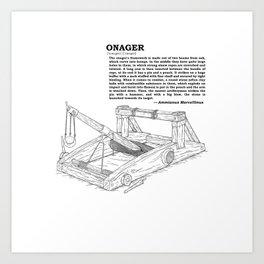 Onager Sketch [Black] Art Print