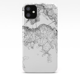 Hong Kong White Map iPhone Case
