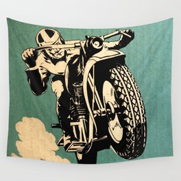 Motorcycle Race Wall Tapestry