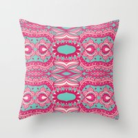 60s Throw Pillows featuring 60s  by cactus studio