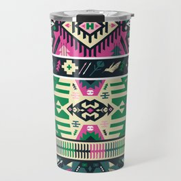 Fancy abstract geometric vector pattern in tribal style Travel Mug