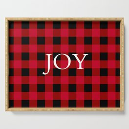 Joy Red Buffalo Check Serving Tray