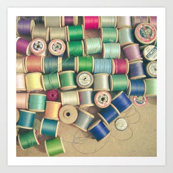 Cotton Reels Art Print