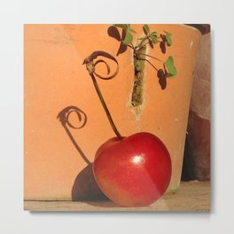 Cherry Spiral Metal Print