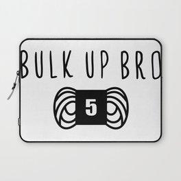 bulk up bro funny yarn knit crochet Laptop Sleeve