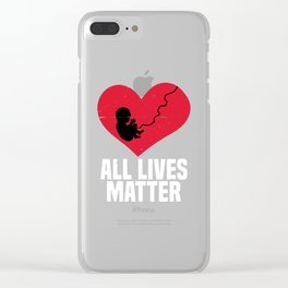 PRO LIFE-All Lives Matter T Shirt Clear iPhone Case