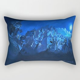 blue village Rectangular Pillow