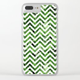 Tropical chevron Clear iPhone Case