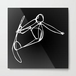 Hang on Tight :: Single Line Metal Print