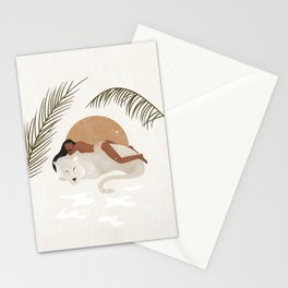 A tiger doesn't lose sleep overthe opinion of sheep Stationery Cards