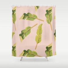 Tropical '17 - Solar [Banana Leaves] Shower Curtain