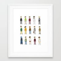 will ferrell Framed Art Prints featuring Ferrells by Justyna Wycislak