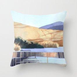 Landscape - Watercolor Throw Pillow