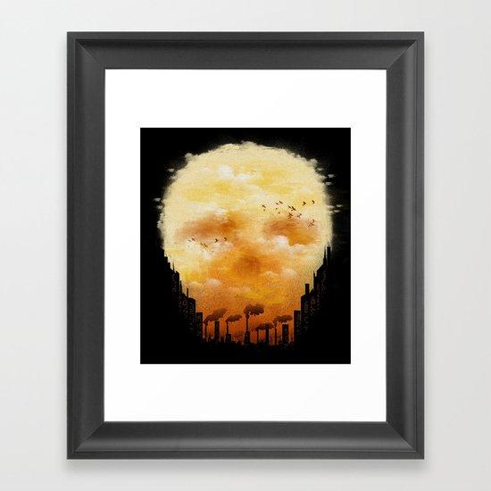 Polluted Promises Framed Art Print