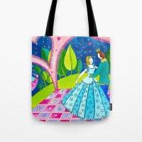 cinderella Tote Bags featuring Cinderella by Sandra Nascimento