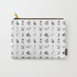 Vintage Bunny Rabbit Pattern Carry-All Pouch