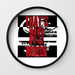 That's No Moon Wall Clock