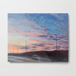 Freeway sunset Metal Print