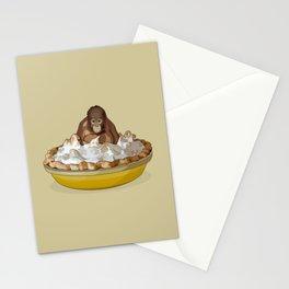 Lemon 'Merangutan' Pie - Orangutan Monkey in Lemon Meringue Pie Stationery Cards