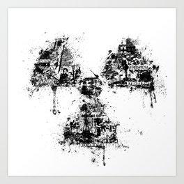 Radioactivity Symbol Art Print