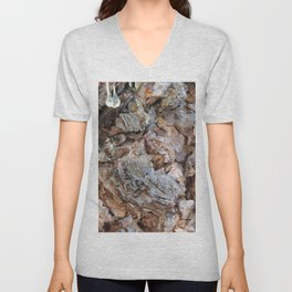 TEXTURES: Weeping Big Cone Pine Bark Unisex V-Neck