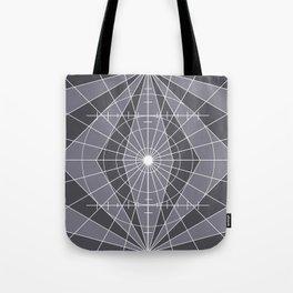 Monochrome Minimalist Geometric Lines Design Tote Bag