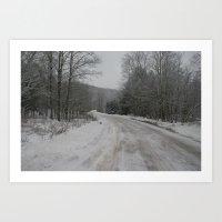 Winter Roads Art Print