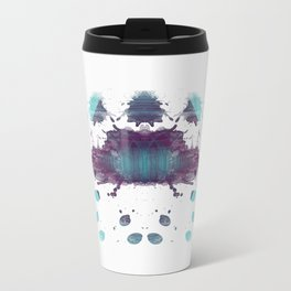 Inknograph XXII - Rorschach Art Metal Travel Mug